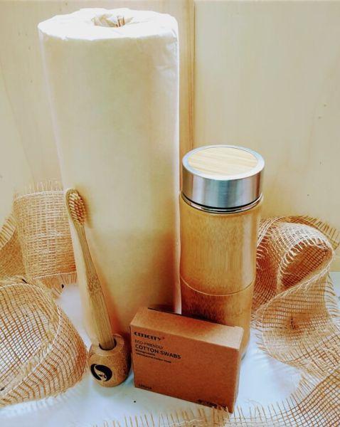 Nachhaltige Weihnachtsgeschenke Bambus Küchenrolle, Thermobecher