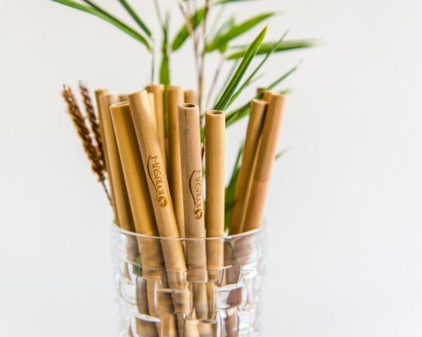 Premium Bambus-Strohhalme Smoothie
