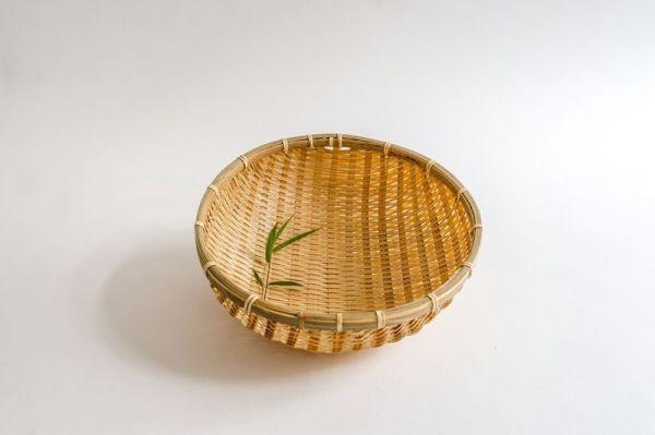 Bambus-Reiskörbe, Bambussieb, Gartenkorb, 30 cm
