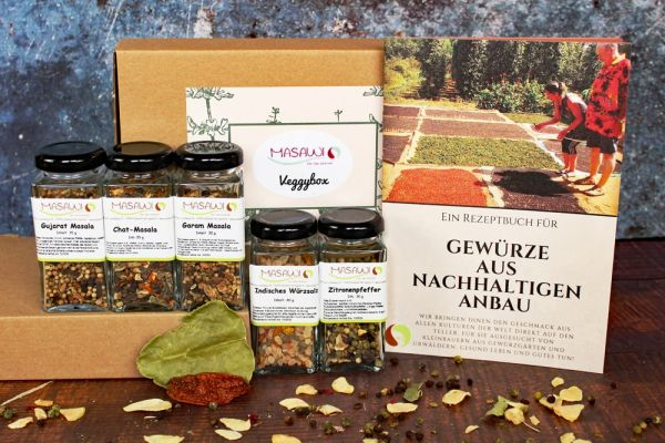 Veggybox, Gewürzbox, Geschenkbox + 1 Masawi-Rezeptheft
