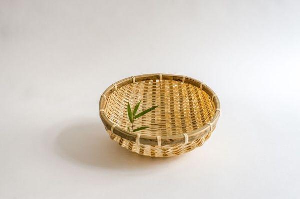 Bambus-Reiskörbe, Küchensieb, Gartenkorb, 20 cm