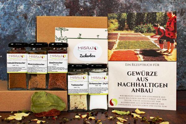 Zuckerbox, Naturzuckerarten, Geschenkbox,