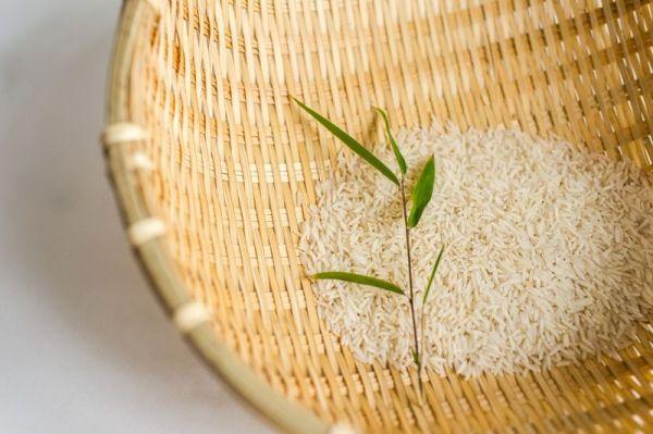 Bambus-Reiskörbe, Küchensieb, Gartenkorb , Brötchenkorb, 25 cm