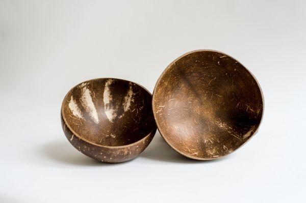 Kokosnussschalen, Smoothie-Bowls, Müslischale
