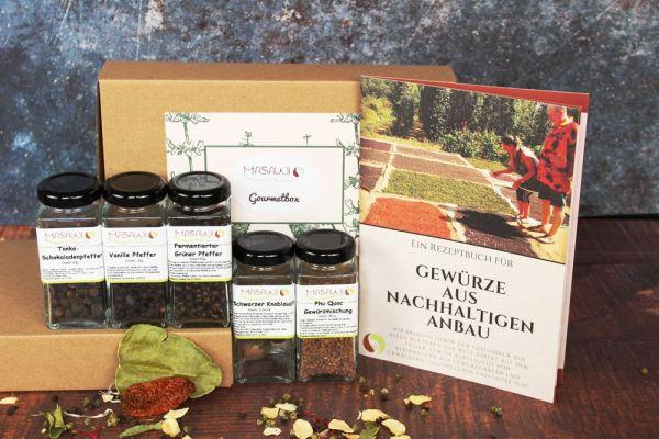 Gourmetbox, Gewürzbox, Geschenkbox + Rezeptheft