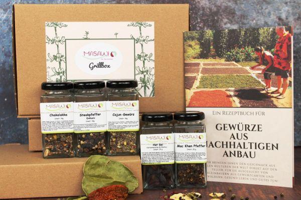 Grillbox, Gewürzbox, Geschenkbox + Rezeptheft