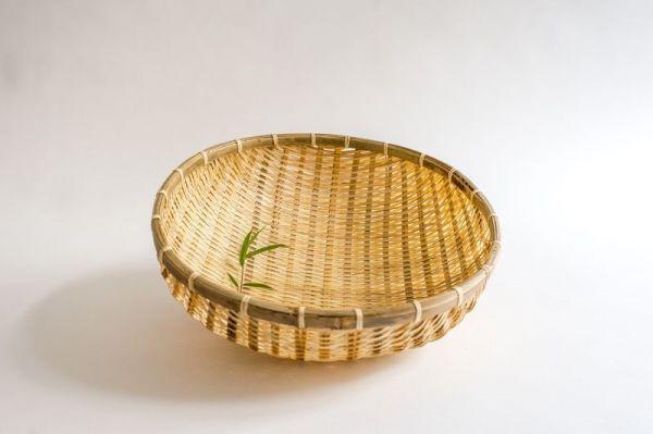Bambus Reiskörbe, Küchensieb, Gartenkorb, 40 cm