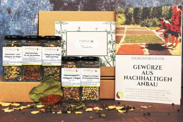 Kräuterbox, Gewürzbox, Geschenkbox + Rezeptheft