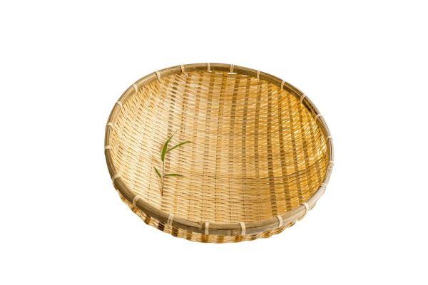 Bambus Reiskörbe, Bambussieb, Obstkorb, Gartenkorb, 40 cm
