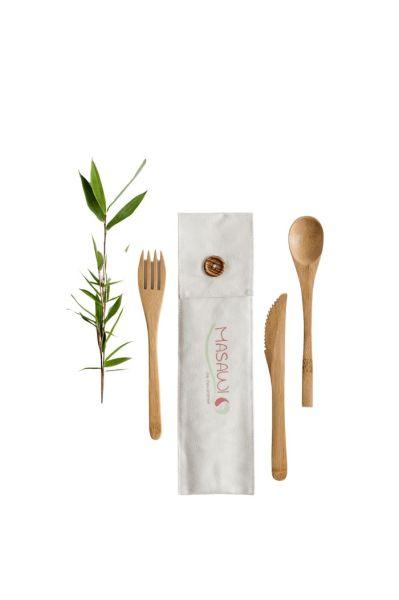 Bambus Essbesteck 3teilig 20cm